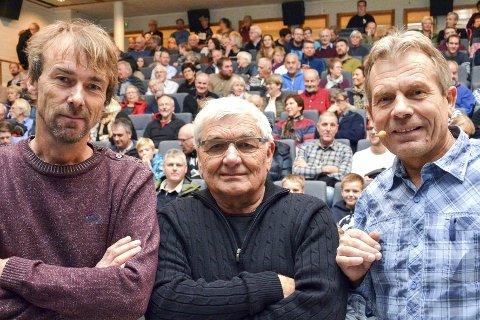 SKOGGANGSMANN: Torgeir Beck Lande (f.v.), Arnt Berget og Arne Nævra står bak filmene fra Holleia.