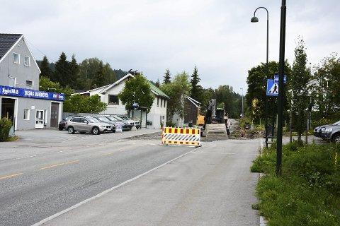 Krevende: Anlegget på fylkesvei 287 fra Strandgata i retning Sigdal har vist seg å være krevende.                                                                  ARKIVFOTO