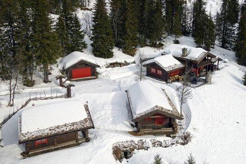 Kvitsteinåsen: Dette hyttetunet på en 2,4 mål stor tomt på Norefjell. Med hytte, anneks, stall og garasje, kan bli ditt for 7,9 millioner kroner.                                      Foto: Adv. Sem og Johnsen Eiendomsmegling