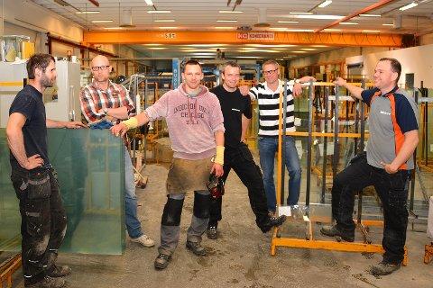 GLADE GUTTER: Fra venstre; Per Martin Lund, Cato Ludvigsen, Bronislaw Paszke, Per Einar Halvorsen, Henning Austad og Kim Ole Skinstad.