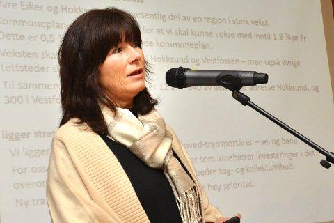 VIL SJEKKE: Ordfører Ann Sire Fjerdingstad i Øvre Eiker vil undersøke om kommunestyret har behandlet denne saken.