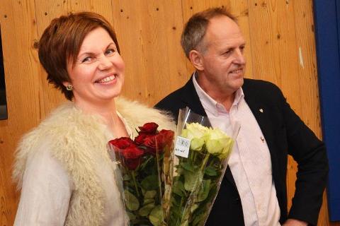 PÅ TOPP: Solveig Sæta fikk flest slengere i Krødsherad. Olav Skinnes fikk nest flest på Bygdelista.