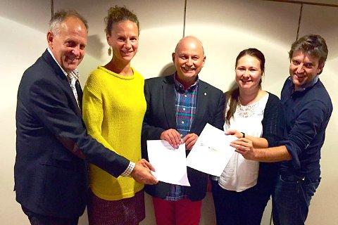 TOPP FEM: Olav Skinnes (f.v.),Hanne Lisa Matt, Roger Ryberg, Lena Reitan og Anders Wengen.