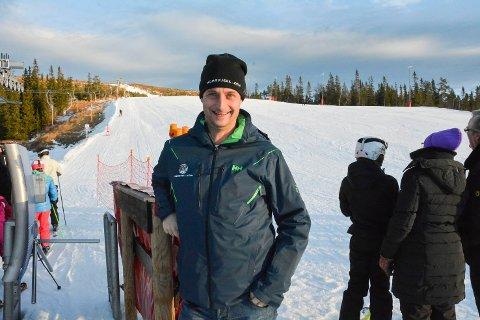 Marius Arnesen, daglig leder Norefjell skisenter, Bøeseterheisen, Krødsherad.