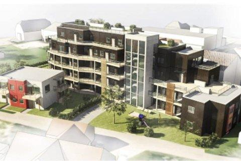 OPSAHLHAVEN: Slik ønsket  MN-Pro at leilighetsbygget i Stasjonsgata skulle se ut, men politikerne er ikke enige.