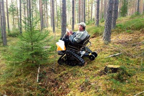 TERRENGGÅENDE: Her fant Jørn Tore Gulbrandsen en post på Furumo. Foto: Privat.