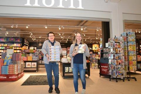 NY OG FLOTT: Norli Bokhandel i Vikersund har flyttet inn i Kiwibygget. Bodil Kristiansen (t.v.) og butikksjef Monica Bergsrud er strålende fornøyd.