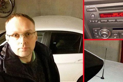 Erlend Moen fra Stjørdal har gjort bilen sin klar for slukkingen av FM-nettet. Her forteller han hvordan det har gått så langt.