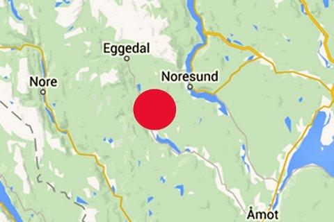 HER: Grendehuset ligger i Eggedal.
