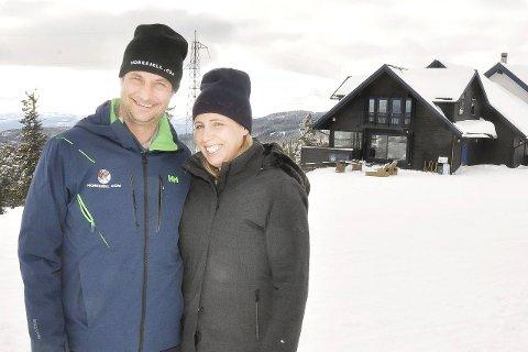 Nyinnflyttet: Ekteparet Ellen og Marius Arnesen har flyttet fra huset sitt på Slemdal i Oslo til leilighet på Skistua på Norefjell.