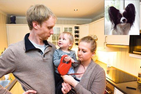 MINNER: Tina Kristin Løvlund, Daniel Boldvik og datteren Iselin har bare tomme skåler og leiebåndet igjen.