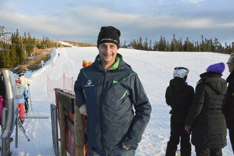 Strålende fornøyd: Marius Arnesen ved Norefjell Skisenter kan notere beste påske på 10 år. Her fra løypa ved Bøeseter.