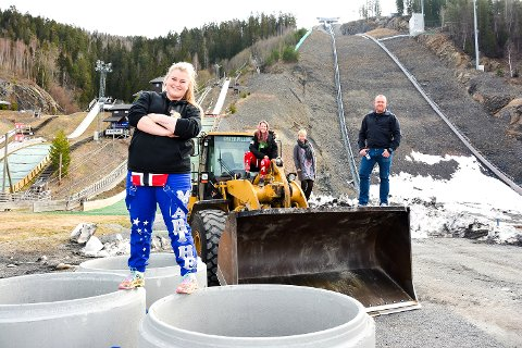 Marthe Green (foran), Espen Tangerud, Kristina Kolbjørnsrud og Tone K. Kristiansen.