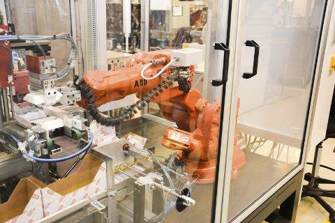 Får skryt: Elko i Åmot høster rosende ord av den nye sjefen for å være en av de mest effektive fabrikkene i konsernet, blant annet med for å være svært automatisert og full av roboter.