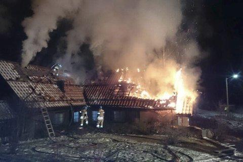 Institutt for sjelesorg: 17. desember 2015 ble overnattingsbygget totalskadd i brann.Arkiv: THORMOD r. HANSEN