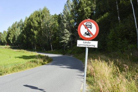 Rabbenveien: Stengt for gjennomkjøring i sommer.