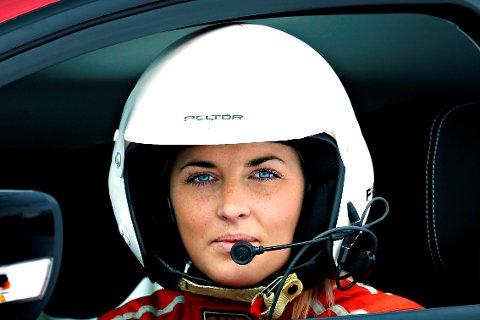 Debuterte med 18. plass: Karen Elise Fossen fra Krødsherad kjørte sitt første bilcrossløp.          Arkivfoto