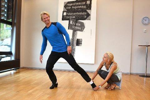 PIRK MED ET SMIL: Skal vi danse på TV2 - høsten 2016: Eilev Bjerkerud danser sammen med Nadya Khamitskaya.
