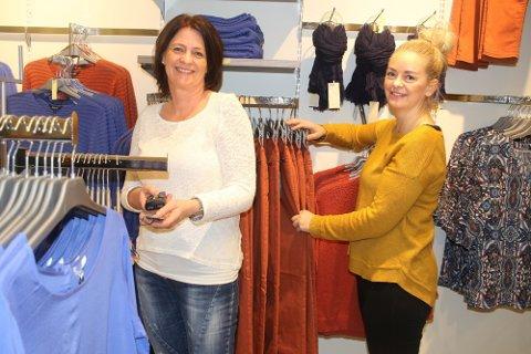 GOD SALGSEFFEKT: Butikksjef Hilde Kjemperud f.v. og regionleder Stine Sætre hos Zavanna tror det vil trekke flere kunder til senteret.