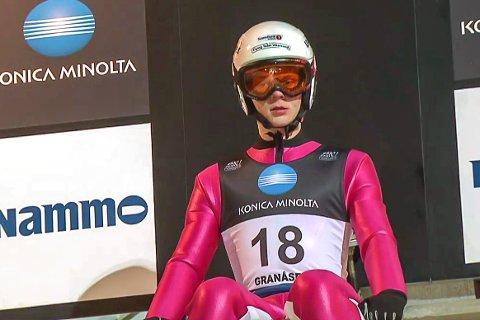 NM HOPP: Anders Håre forberedte seg til Nordisk juniorlandskamp ved å delta i NM stor bakke tidligere denne uken.