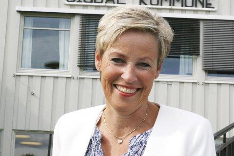FORNØYD: Ordfører Tine Norman.