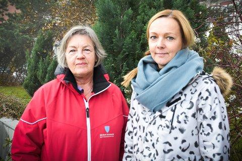 DEMENS: Anne Pettersen (t.v.) og Sissel Solø utgjør hukommelsesteamet (demensteamet) i Modum.