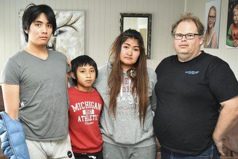 SPLITTES AV STATEN: UDI vil sende Thi (f.v.), Web og Dao Thongkhong ut av Norge. Det synes samboer Jarle Holch lite om. – Det er jo bare snakk om et tidsspørsmål før de kommer tilbake. Dette er unødig påføring av smerte og lidelse, sier han.