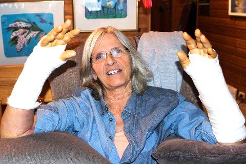 PASSET DÅRLIG: Kari Løvik har fire barn og ti barnebarn. Det blir fullt hus på julaften.