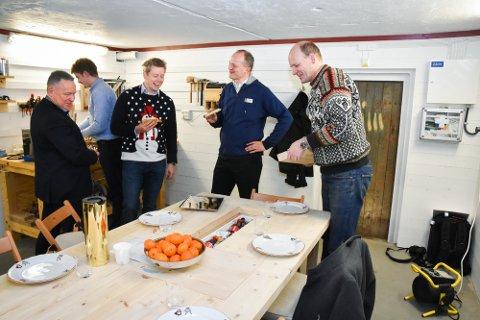 TOPPMØTE: Knut Martin Johansen (f.v.) Tommy Skjærvold, Ketil Solvik-Olsen og Anders B. Werp.