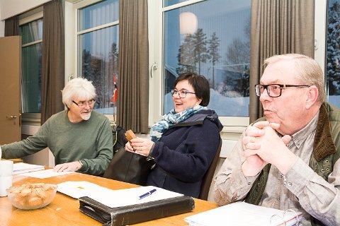 ENSTEMMIG: Forslaget fra Runolv Stegane (V) om å se på retrettmulighet fra Buskerudmuseet ble enstemmig vedtatt av formannskapet i Sigdal. Her sitter han sammen med Hilde Roland (V) og Bård Sverre Fossen (H) (t.h.).