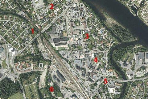 Gedigne planer: Det planlegges bygging av 1.150 boliger i Øvre Eiker de neste årene, og bare her i sentrum er det konkrete planer om 232 leiligheter som skal stå ferdige i løpet av noen få år.
