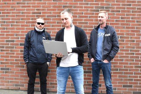 BARNAS TRYGGHET: Christian Juuhl (t.v.), Stig Kalsnes og Stefan Dahlgren står bak engasjementet.