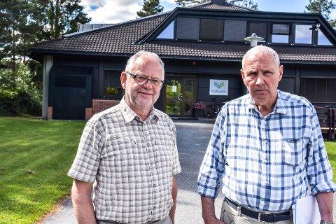STYRET: Styremedlem Kjell Tore Finnerud  (t.v.) og styreleder Vidar Veum i Midtkraft.