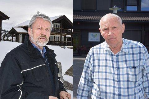 GIKK IKKE: Hellik Kolbjørnsrud (t.v.) mener Vidar Weum ikke holder mål som styreleder i Midtkraft.