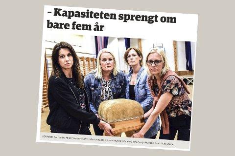 SKJERMDUMP: Eikerbladet 27. juni 2017.