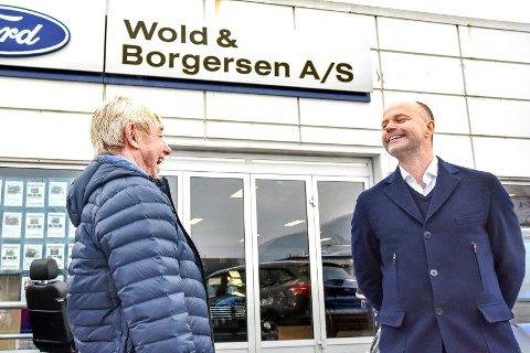 SKAR SEG: I januar smilte Bjørn Wold og Marius Spiten-Nysæter for oppkjøpsavtalen. Tre dager seinere ble et stort underslag avdekket.