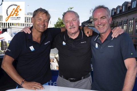 I FRANKRIKE: Johan Kaggestad er som vanlig i Frankrike for å kommentere Tour de France. Også i år sammen med makkerne Dag Otto Lauritzen (t.v.) og Christian Paasche (t.h.) Om TV2-gutta kommer til sykkelrittet i september er ikke klart ennå.
