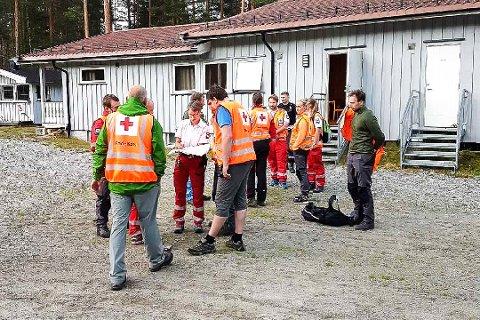 KO ved Molokka i Bingen. Leteaksjon etter savnet mann. Rode Kors.