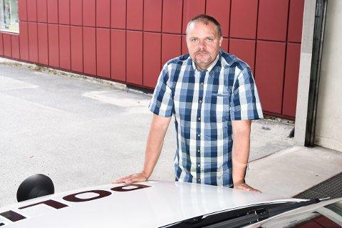 OPPRYKK: Snorre Halvorsen ved  Modum lensmannskontor