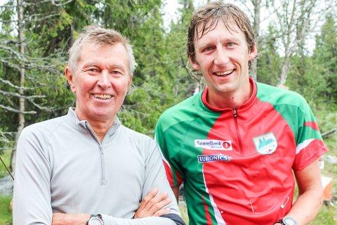 RASKESTE LOKALE: Harald Grønhovds sønn, Lars Søraas Grønhovd, var raskeste lokale løper i langløypa søndag. Løperlegenden Arne Kvalheim var imponert.