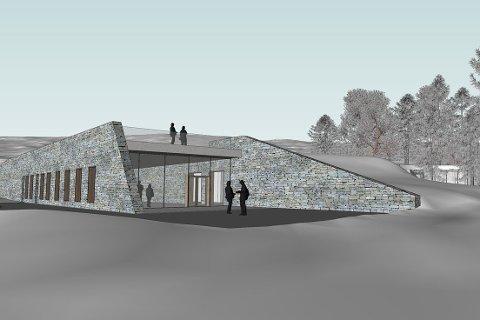 MODERNE: Besøkssenteret ligger for en stor del under bakken, men har synlige fasader i glass og stein.