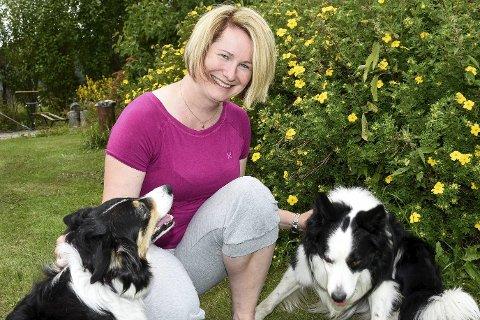 BIKKJEkos: Liss Heidi Djupvik har to boardercollier. Men de må også jobbe. 120 vinterfora sauer skal gjetes. På gården er det også 50 ammekuer.