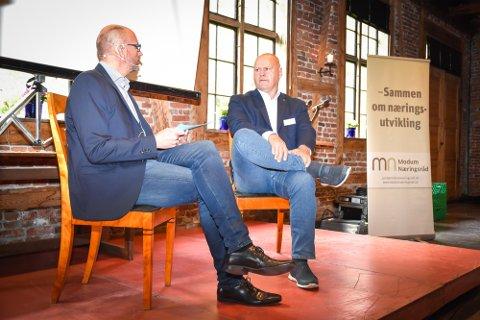 Modumkonferansen 2017. Per Skøien (t.v.) og Albert Kr. Hæhre.