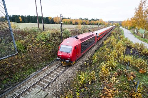 KUN BERGENSTOGET: I dag er det kun Bergenstoget som frakter passasjerer på Randsfjordbanen. Nå ber stortings- representant Arne Nævra (SV) om at det etableres matetog og at det kjøpes inn togsett til å frakte passasjerer mellom Hønefoss og Hokksund.