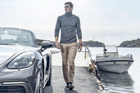 Ettertraktet: Sigbjørn Trøseng Skatvedt er en ettertraktet modell. Her poserer han for Porsche Norge. Foto: EB models/Tor Orset