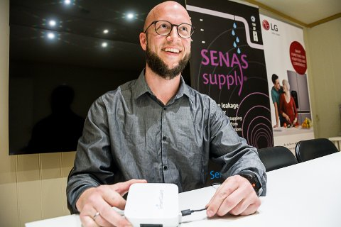I BOKS: Torbjørn Holden Søgaard har allerede flere intensjonsavtaler i boks, og skal etter planen starte opp produksjon av SmartGuard i Modum i løpet av et år. – Da kommer vi til å trenge 6–8 nye arbeidstakere i første omgang, sier gründeren.