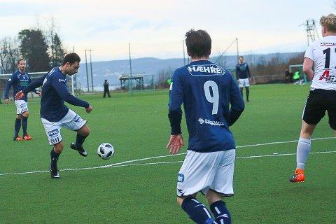 SCORET MÅL NUMMER TO: Dennis Zhilivoda scoret kampens andre mål da Modum FK slo Solberg fredag kveld.
