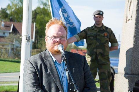 Kultursjef Christer Best Gulbrandsen holdt tale.