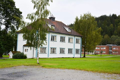 NYBYGG: Buskerud gård – eller Buskerud videregående skole – har to gamle, ærverdige bygg, men også en rekke nye, blant annet stall og ridehus. Nå kan det bli nytt fjøs her også.