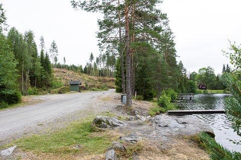 STØRRE PARKERING: Tone Sinding Steinsvik etterlyser i et brev til kommunen større parkeringsplass ved Butjern. Bildet er tatt på en kjølig gråværsdag, men på varme dager kan det være fullt av biler langs veien her.
